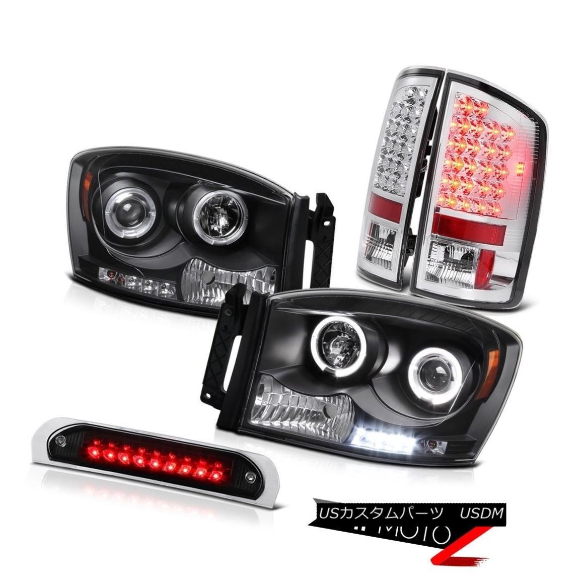 テールライト Angel Eye Projector Headlights SMD Rear Tail Lights Brake LED 06 Ram TurboDiesel エンジェルアイプロジェクターヘッドライトとリアテールライトブレーキLED 06ラムターボディーゼル