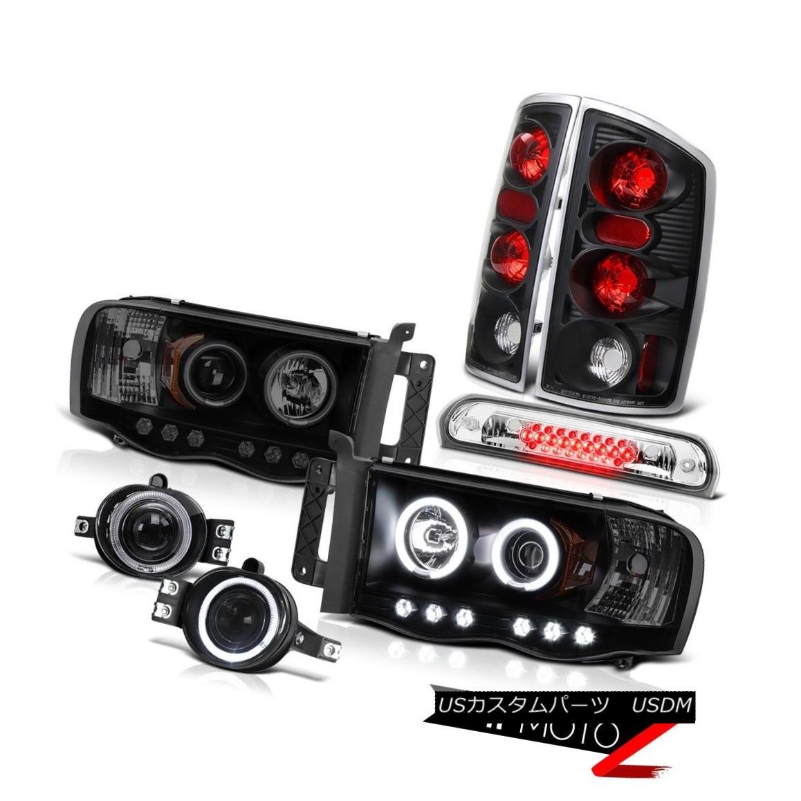 テールライト 2002-2005 Dodge Ram Angel Eye Headlight Rear Lamp Projector Fog High Cargo LED 2002-2005ダッジ・ラム・エンジェル・アイ・ヘッドライトリア・ランプ・プロジェクターフォグハイ・カーゴLED