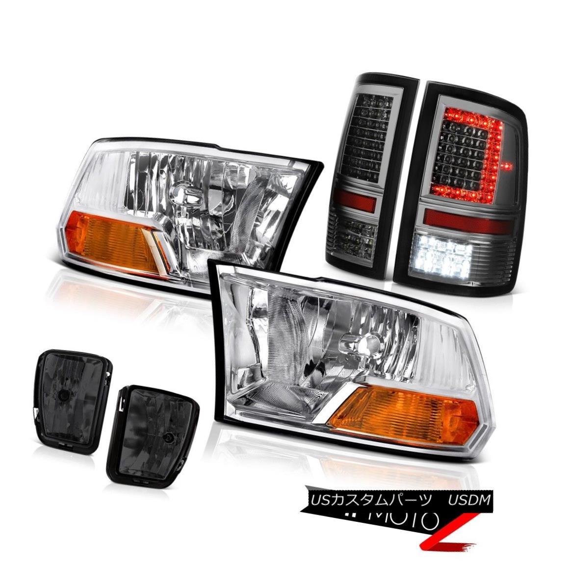 テールライト 13 14 15 16-18 RAM 1500 Tail lamp Fog Sterling Chrome Factory Style Headlights 13 14 15 16-18 RAM 1500テールランプフォグスターリングクロム工場スタイルヘッドライト