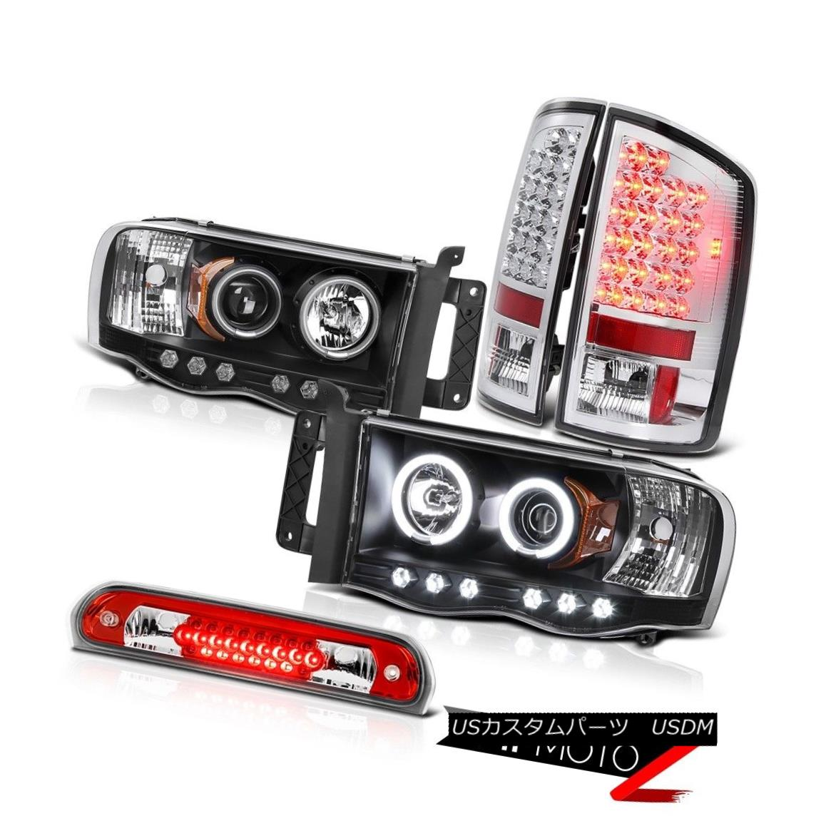 テールライト CCFL Halo Black Headlights Euro LED Tail Light Roof Brake Red 2002-2005 Ram 2500 CCFL Halo BlackヘッドライトユーロLEDテールライトルーフブレーキレッド2002-2005 Ram 2500