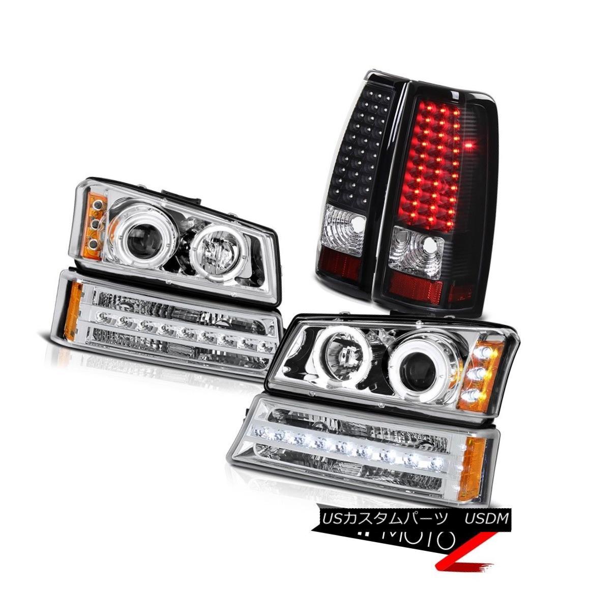 テールライト 03 04 05 06 Silverado Black taillamps sterling chrome signal light headlamps 03 04 05 06 Silverado Black taillamps純銀製シグナルライトヘッドランプ