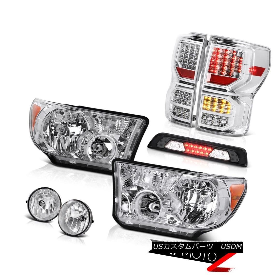 テールライト 07-13 Toyota Tundra Limited Taillamps Headlights Roof Cargo Lamp Fog Lights SMD 07-13トヨタ・トンドラ・リミテッドトライアングルヘッドライトルーフカーゴランプフォグライトSMD
