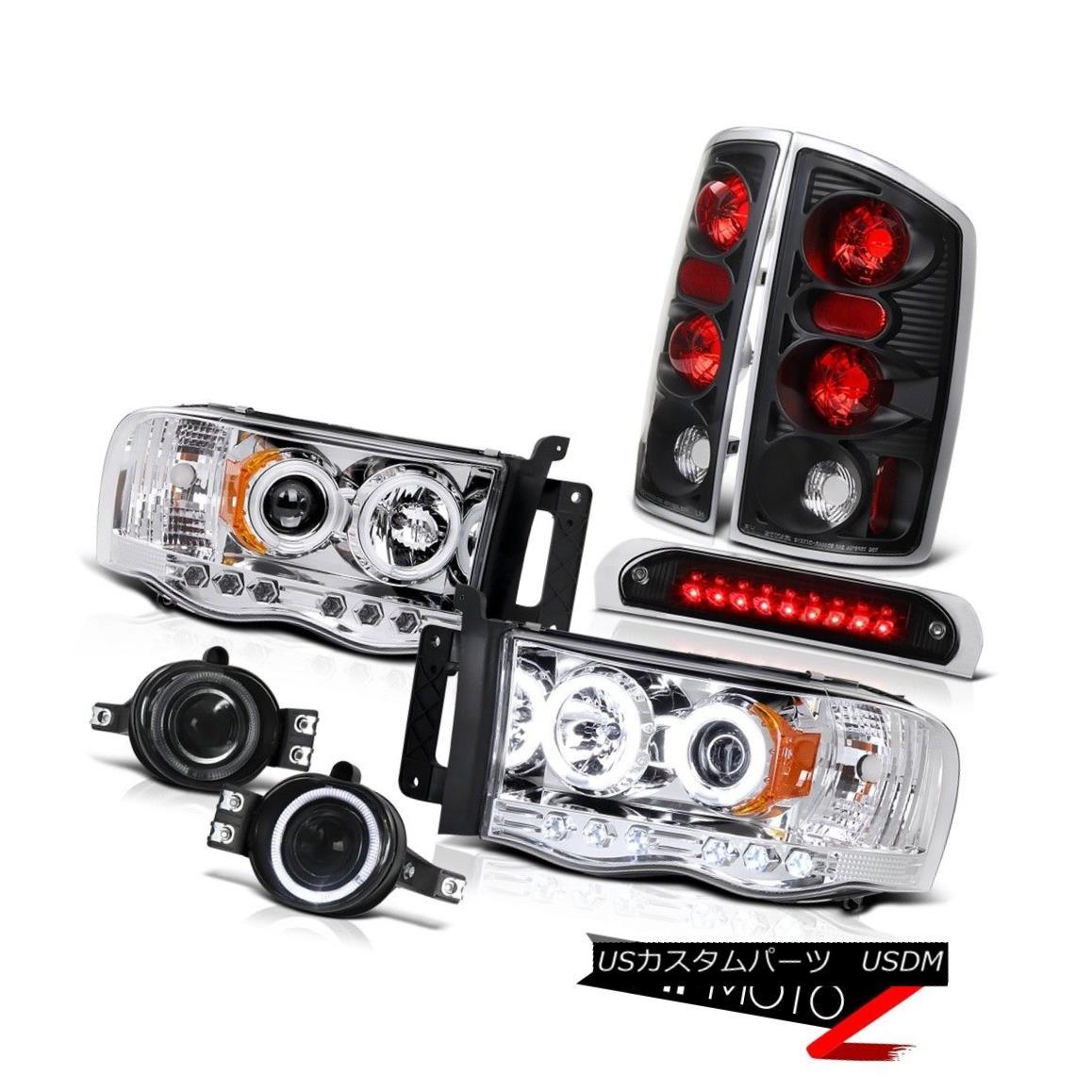 テールライト [BRIGHTEST] CCFL Headlights Tail Brake Lights Bumper Fog 3rd L.E.D 02-05 Ram WS [明るい] CCFLヘッドライトテールブレーキライトバンパーフォグ3rd L.E.D 02-05 Ram WS