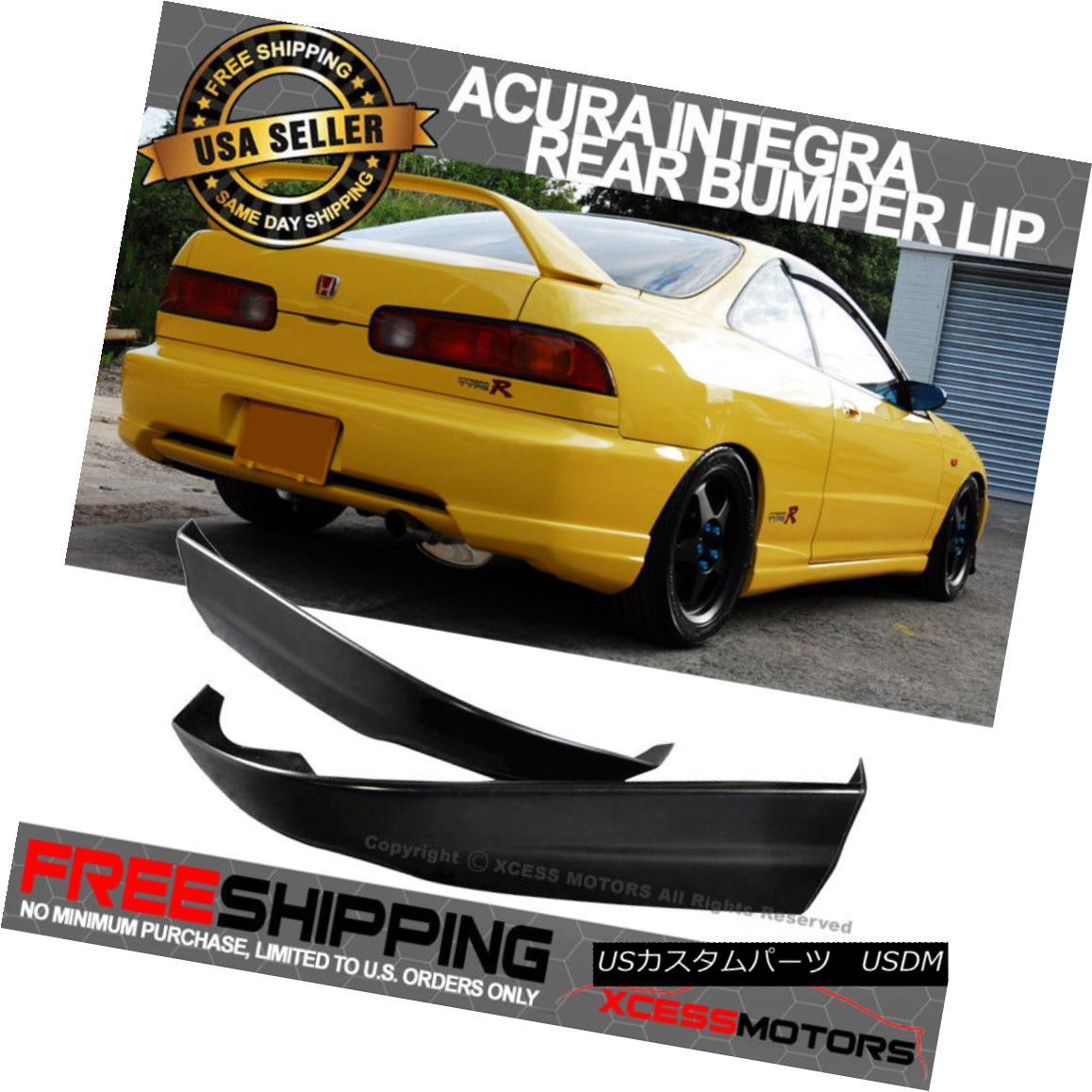 エアロパーツ Fits 98-01 Acura Integra PU Rear Bumper Lip Spoiler 2PCS Poly Urethane フィット98-01 Acura Integra PUリアバンパーリップスポイラー2PCSポリウレタン