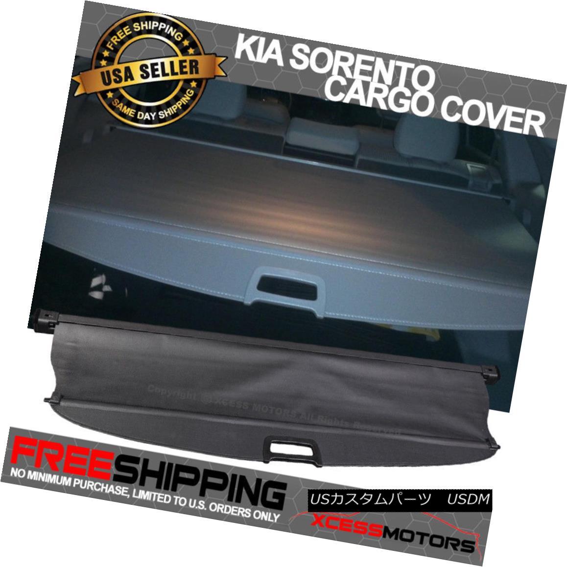エアロパーツ For 11-15 Sorento OE Retractable Black Rear Cargo Security Trunk Cover 11-15 Sorento OEリトラクタブルブラックリアカーゴセキュリティトランクカバー
