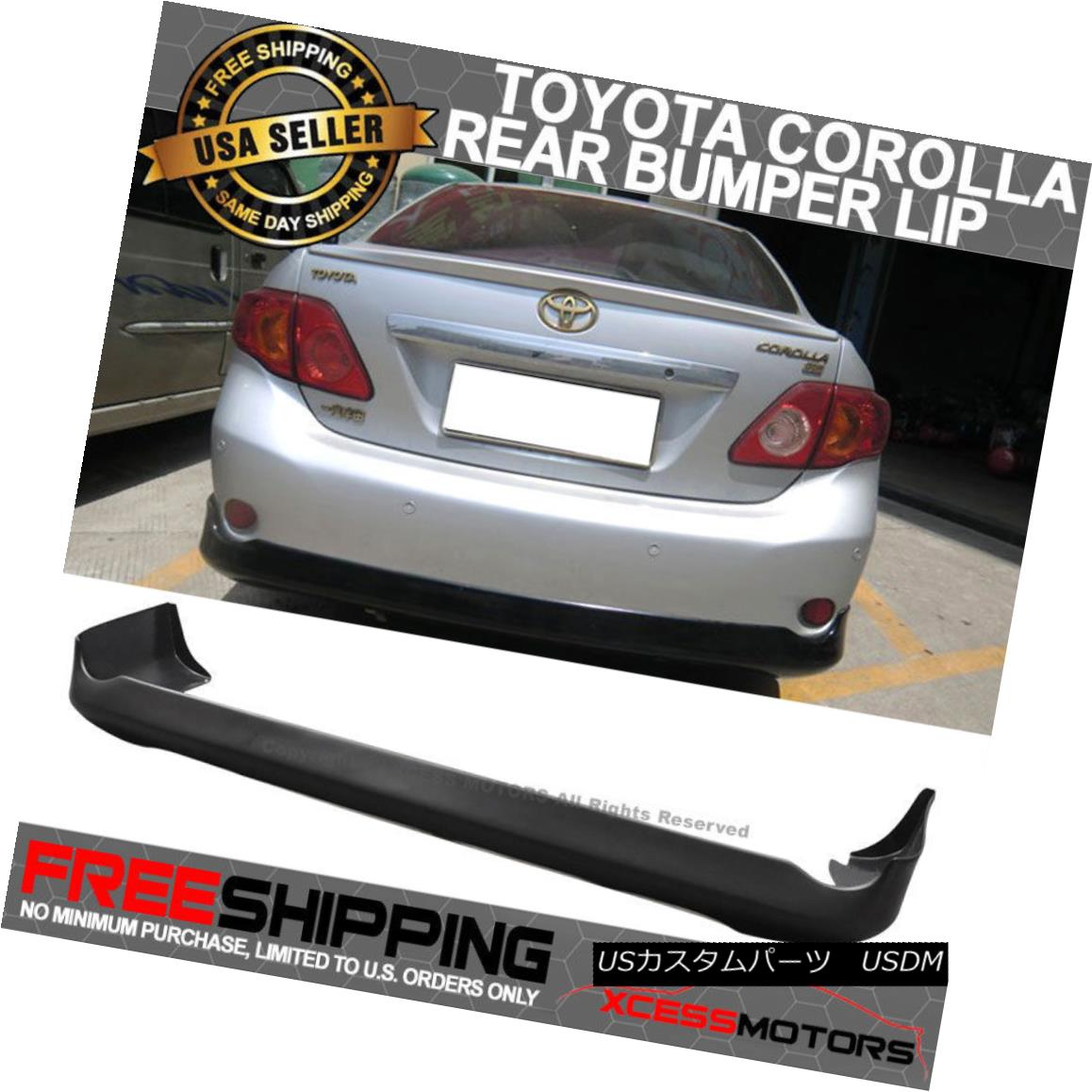 エアロパーツ Fit Toyota Corolla 09-10 OE Style Polypropylene Rear Bumper Lip Spoiler Diffuser フィットトヨタカローラ09-10 OEスタイルポリプロピレンリアバンパーリップスポイラーディフューザー