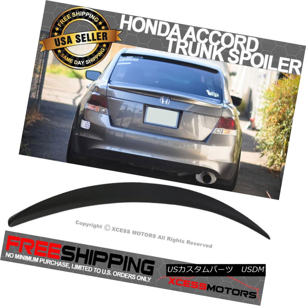 エアロパーツ For 08-12 Honda Accord 4Dr OE Style Trunk Spoiler Unpainted - ABS 08-12ホンダアコード4Dr OEスタイルトランク・スポイラー未塗装 - ABS