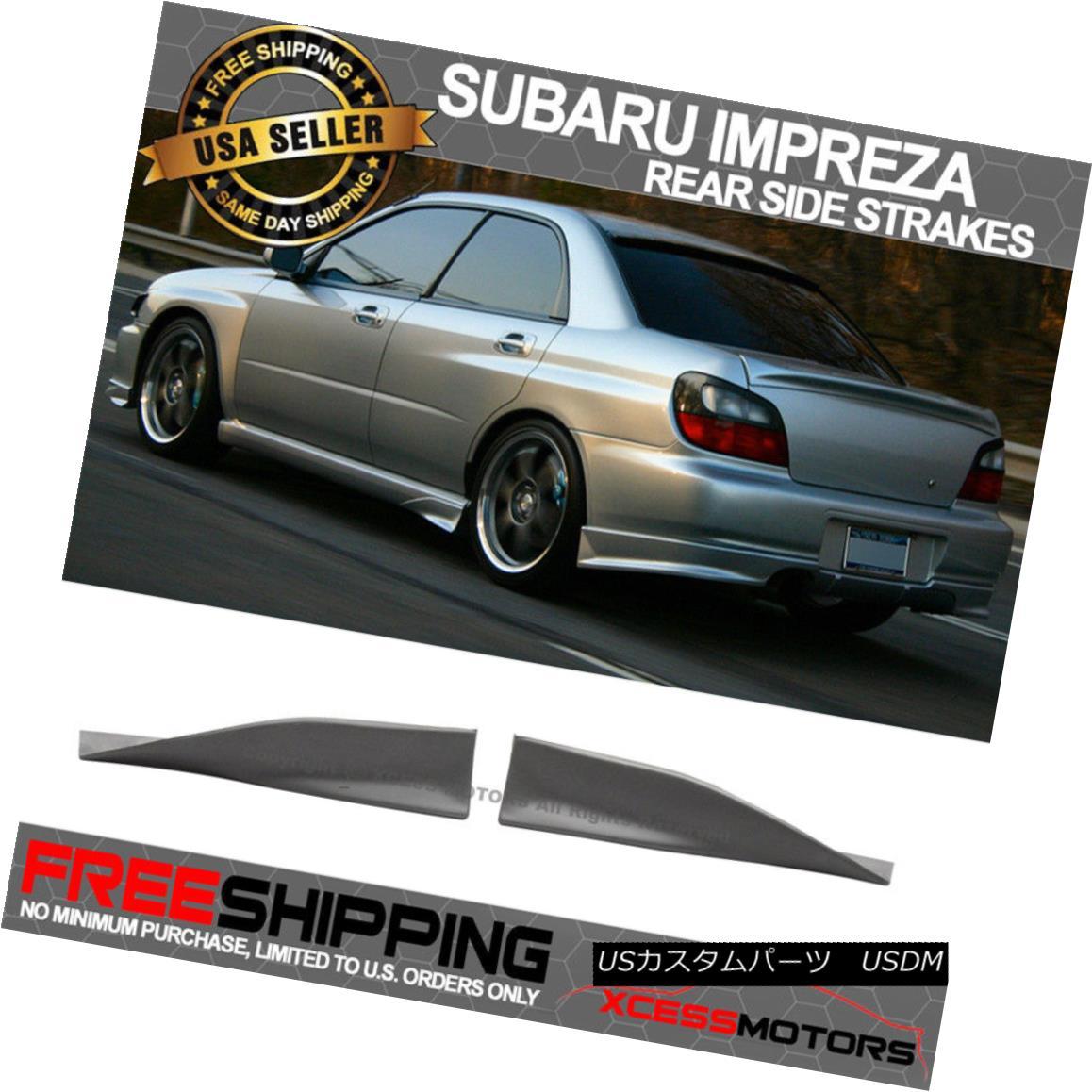 エアロパーツ Fit 02-07 Subaru Impreza Urethane Sedan Wagon Rear Side Strake Spats 2Pcs フィット02-07スバルインプレッサウレタンセダンワゴンサイドストレートスパッツ2個
