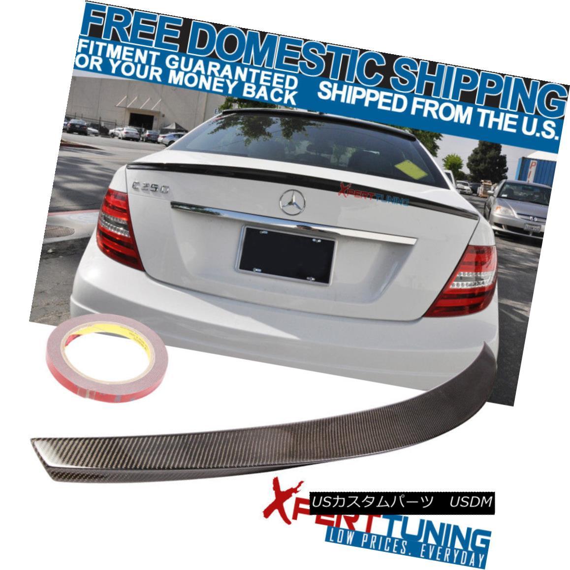 エアロパーツ 08 09 10 11 12 13 14 Benz C-Class W204 D Trunk Spoiler - Carbon Fiber CF 08 09 10 11 12 13 14ベンツCクラスW204 Dトランク・スポイラー - 炭素繊維CF