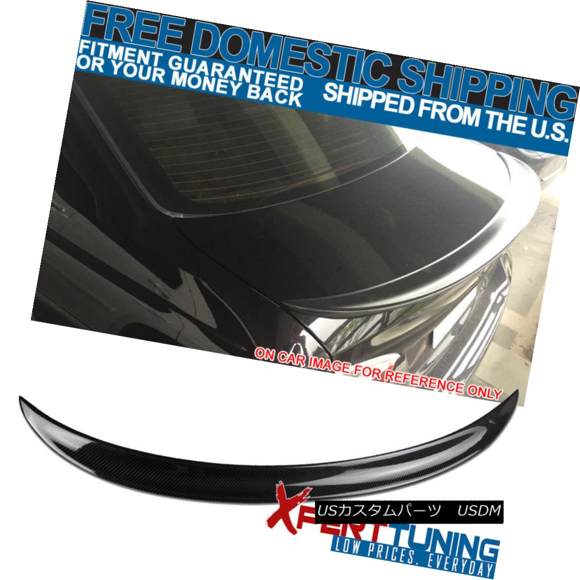 エアロパーツ 06-11 BMW 3 Series E90 P Style Trunk Spoiler Wing - Carbon Fiber 06-11 BMW 3シリーズE90 Pスタイルトランク・スポイラー・ウィング - カーボン・ファイバー