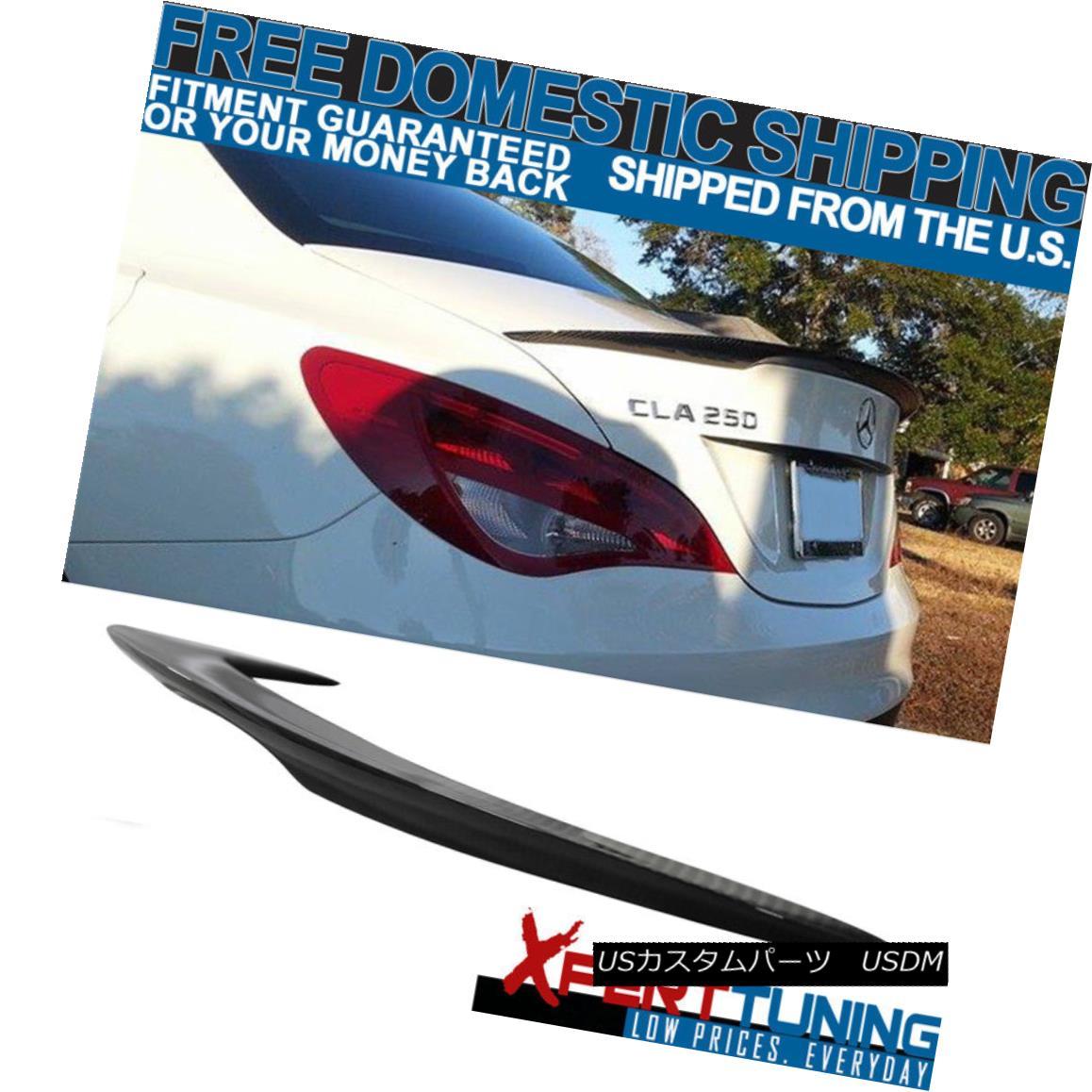 エアロパーツ 2013-2018 W117 CLA Sedan ADH Style Rear Trunk Spoiler Lip Wing CF Carbon Fiber 2013-2018 W117 CLAセダンADHスタイルリアトランクスポイラーリップウイングCFカーボンファイバー