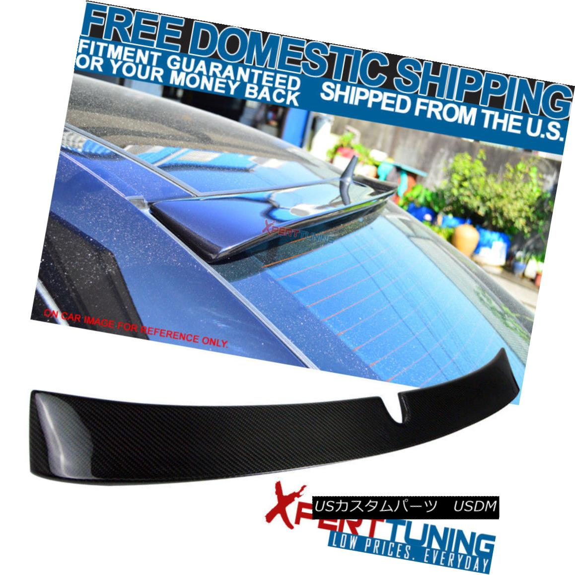 エアロパーツ 03-05 W211 E-Class 4Dr 4Door Carbon Fiber CF L Style Roof Spoiler Wing 03-05 W211 Eクラス4Dr 4DoorカーボンファイバーCF Lスタイルルーフスポイラーウイング