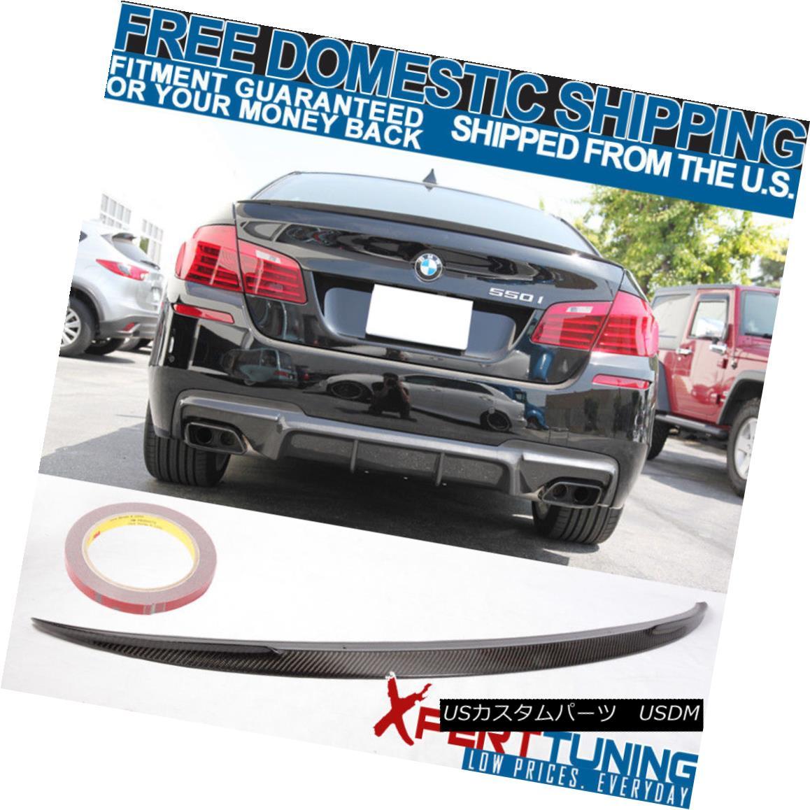 エアロパーツ For 11-16 BMW F10 5-Series 4D Sedan Carbon Fiber Rear Trunk Spoiler Wing CF Lid 11-16 BMW F10 5シリーズ4DセダンカーボンファイバーリアトランクスポイラーウイングCF蓋