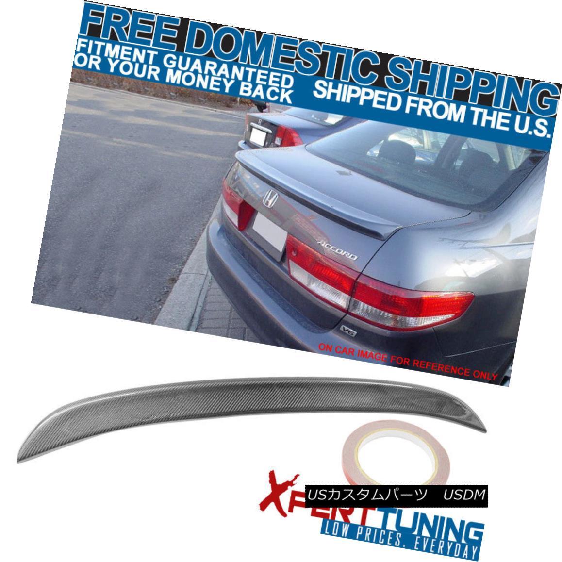 エアロパーツ 03 04 05 Honda Accord 4Dr 4Door OE Factory Style CF Carbon Fiber Trunk Spoiler 03 04 05ホンダアコード4Dr 4ドアOEファクトリースタイルCFカーボンファイバートランク・スポイラー