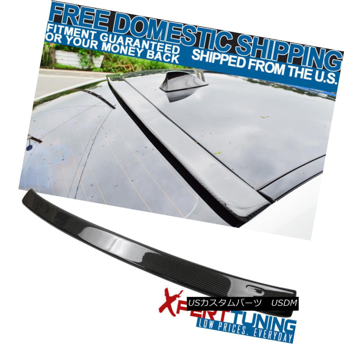 エアロパーツ 11 12 13 14 15 16 F10 5 Series 4Dr Carbon Fiber CF AC Style Roof Spoiler Wing 11 12 13 14 15 16 F10 5シリーズ4Dr炭素繊維CF ACスタイル屋根用スポイラーウイング