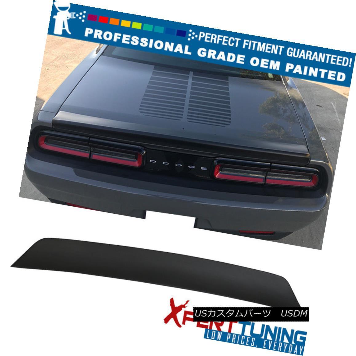 エアロパーツ Fits 15-18 Dodge Challenger Ikon SXT Duckbill Trunk Spoiler - OEM Painted Color フィット15-18ドッジチャレンジャーIkon SXTダックビルトランクスポイラー - OEM塗装カラー