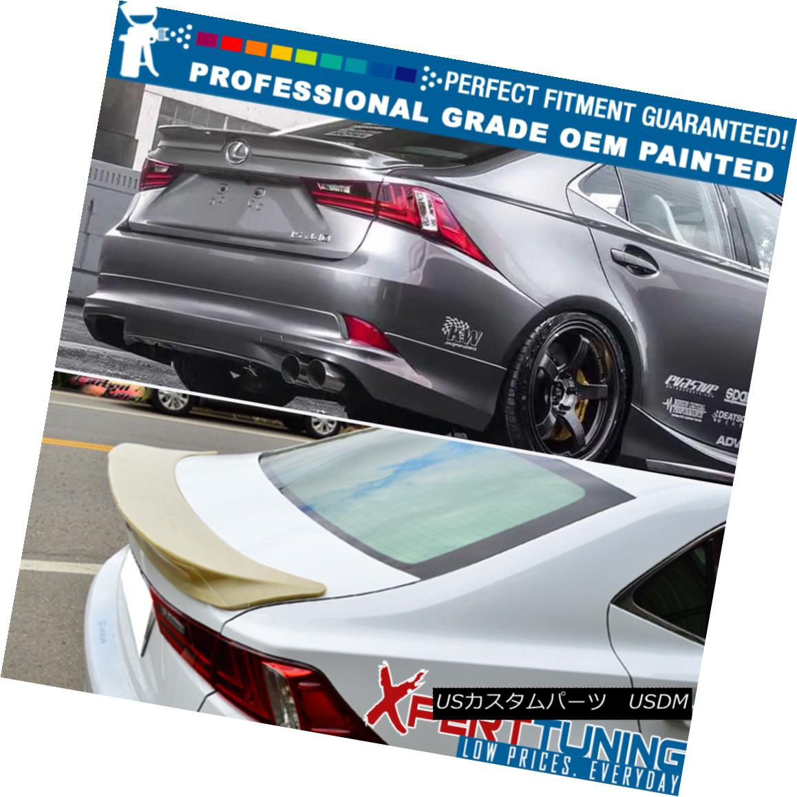 Fit 14-16 Lexus IS250 Trunk Spoiler OEM Painted Color Available