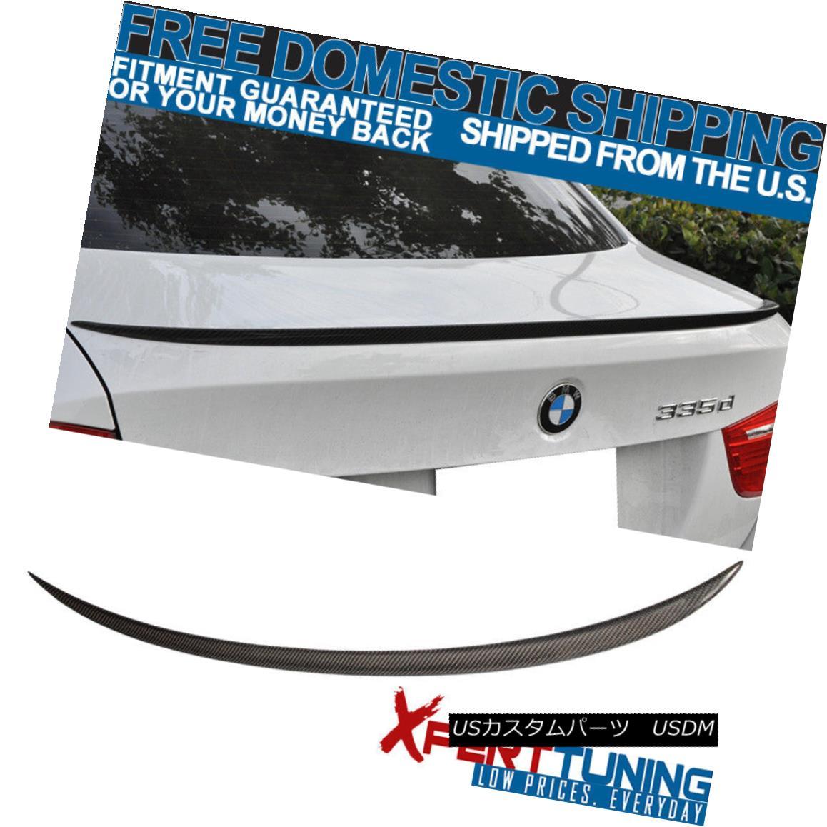 エアロパーツ For 05-11 BMW 3-Series E90 4D Sedan M3 Carbon Fiber Rear CF Trunk Spoiler Wing 05-11 BMW 3シリーズE90 4DセダンM3カーボンファイバーリアCFトランクスポイラーウイング