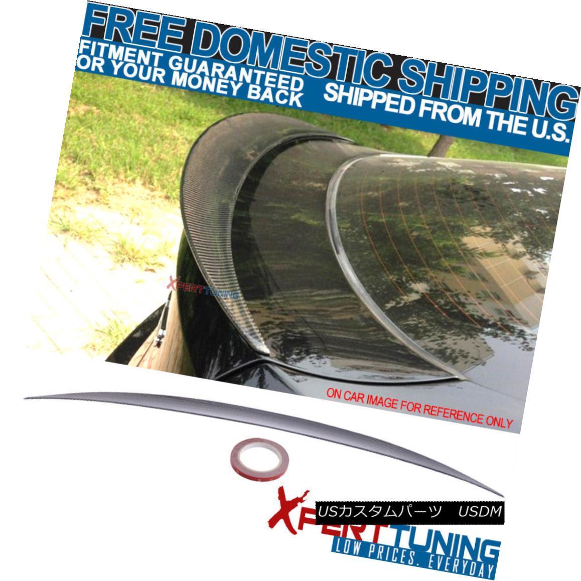 エアロパーツ 08-14 E71 X6 5Dr SUV Performance Style Trunk Spoiler - Carbon Fiber (CF) 08-14 E71 X6 5Dr SUVパフォーマンススタイルトランク・スポイラー - 炭素繊維(CF)