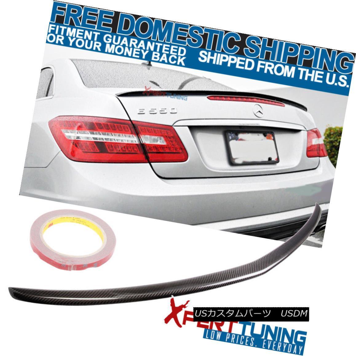 エアロパーツ 10-17 Benz E-Class W207 C207 Coupe 2Dr Trunk Spoiler - Carbon Fiber CF 10-17ベンツEクラスW207 C207クーペ2Drトランク・スポイラー - 炭素繊維CF