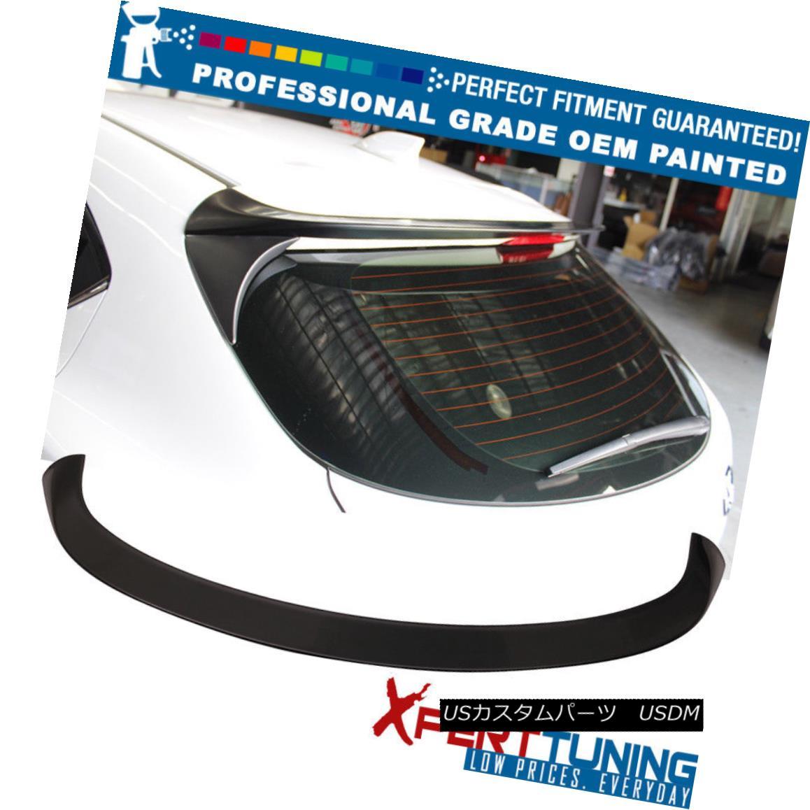エアロパーツ Fits 14-17 Mazda 3 Hatchback V Style Rear Roof Spoiler Wing - OEM Painted Color フィット14-17マツダ3ハッチバックVスタイルのリアルーフスポイラーウイング - OEM塗装カラー