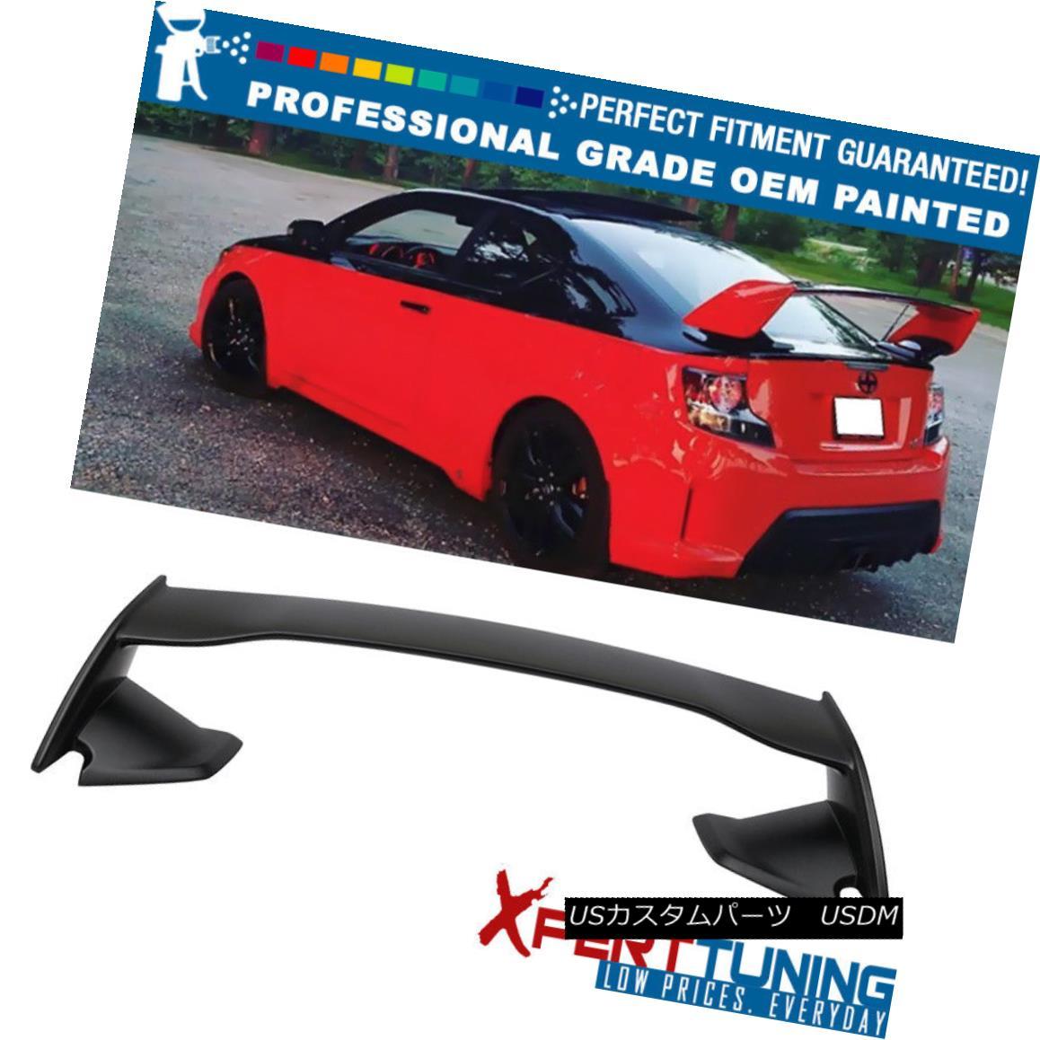 エアロパーツ Fits 11-16 Scion tC Coupe 2Dr IK Style ABS Trunk Spoiler - OEM Painted Color フィット11-16シオンtCクーペ2Dr IKスタイルABSトランクスポイラー - OEM塗装色