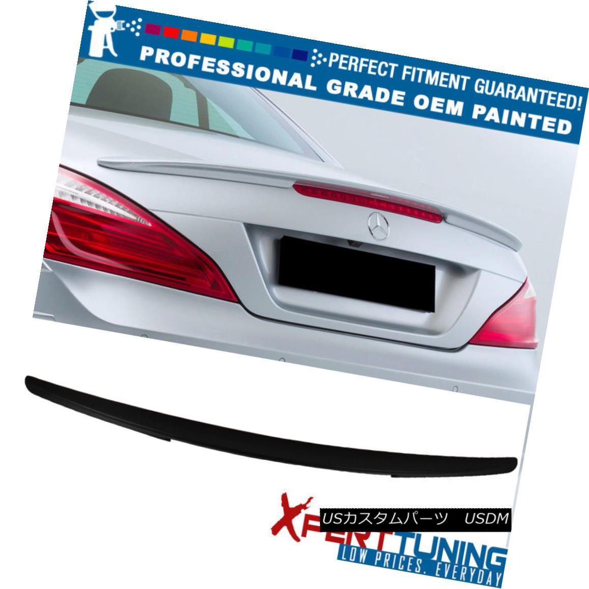 エアロパーツ 13-16 Benz SL-Class R231 D Style Rear ABS Trunk Spoiler- OEM Painted Color 13-16ベンツSLクラスR231 DスタイルリアABSトランクスポイラーOEM塗装色