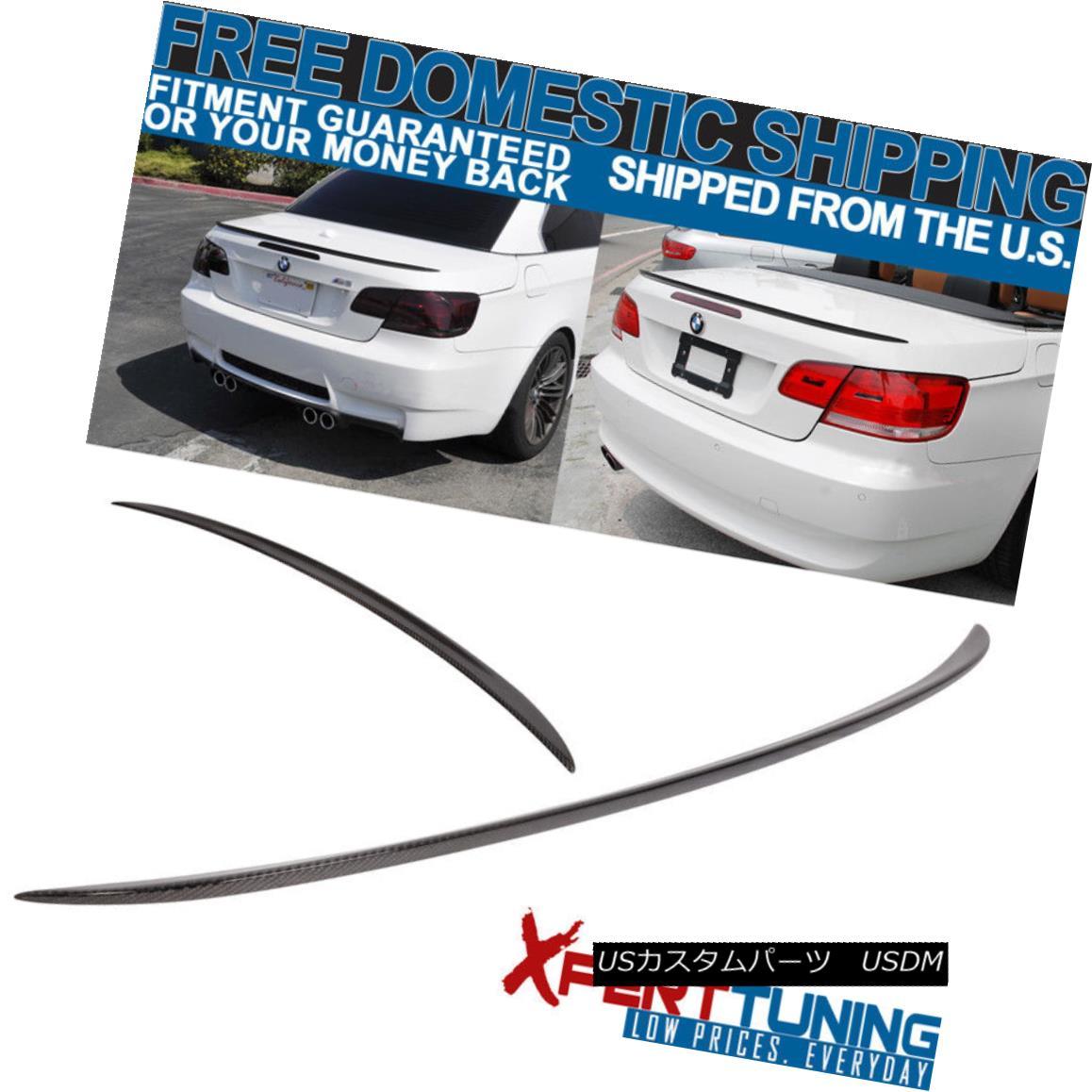 エアロパーツ 07-13 BMW 3-Series E93 M3 Rear Trunk Spoiler Lid Carbon Fiber CF 07-13 BMW 3シリーズE93 M3リアトランクスポイラー蓋炭素繊維CF