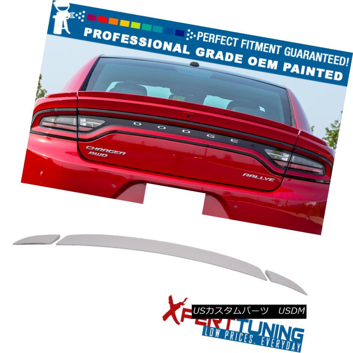 エアロパーツ Fit 15-18 Charger SRT OE Style Painted ABS Trunk Spoiler - OEM Painted Color フィット15-18充電器SRT OEスタイル塗装ABSトランクスポイラー - OEM塗装カラー