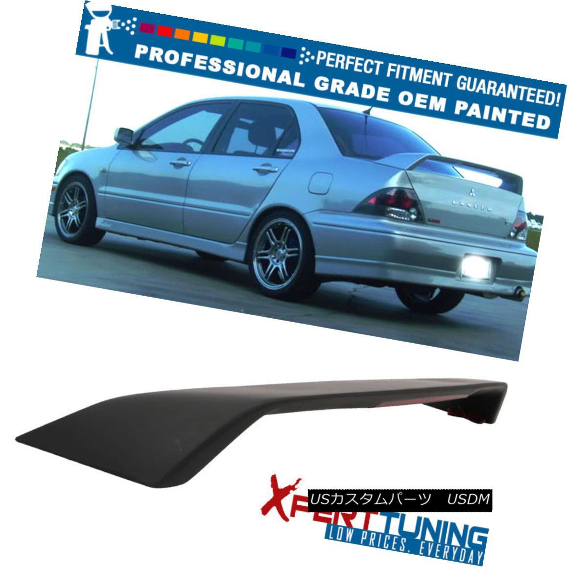 エアロパーツ Fits 02-07 Mitsubishi Lancer OE Factory ABS Trunk Spoiler - OEM Painted Color フィット02-07三菱ランサーOE工場ABSトランクスポイラー - OEM塗装色