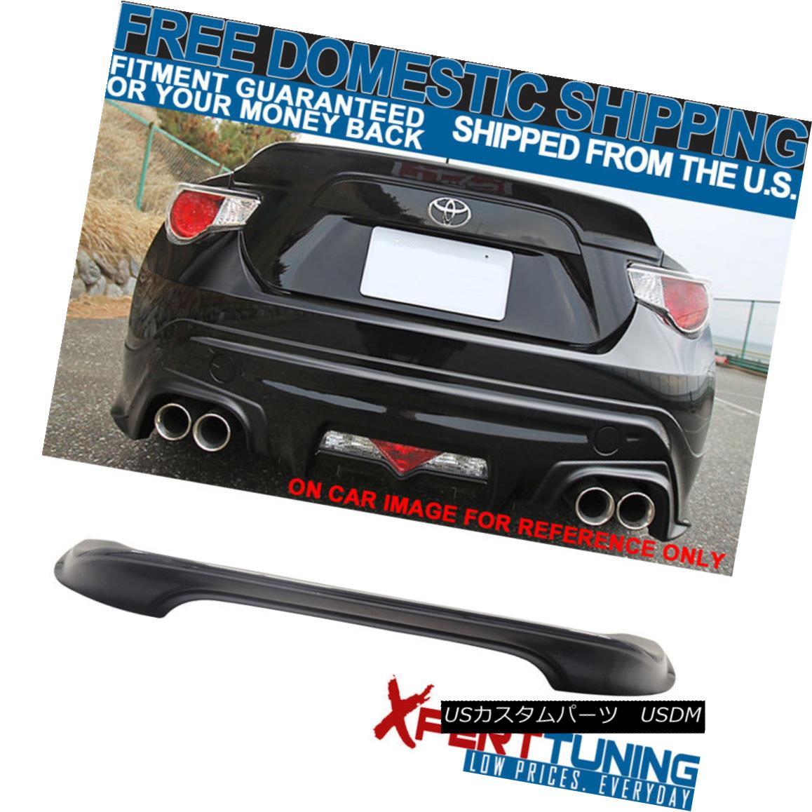エアロパーツ Fit Scion FRS Subaru BRZ 13-17 Trunk Spoiler OE Painted Dark Gray Asphalt #61K フィットサイオンFRSスバルBRZ 13-17トランクスポイラーOE塗装ダークグレーアスファルト#61K