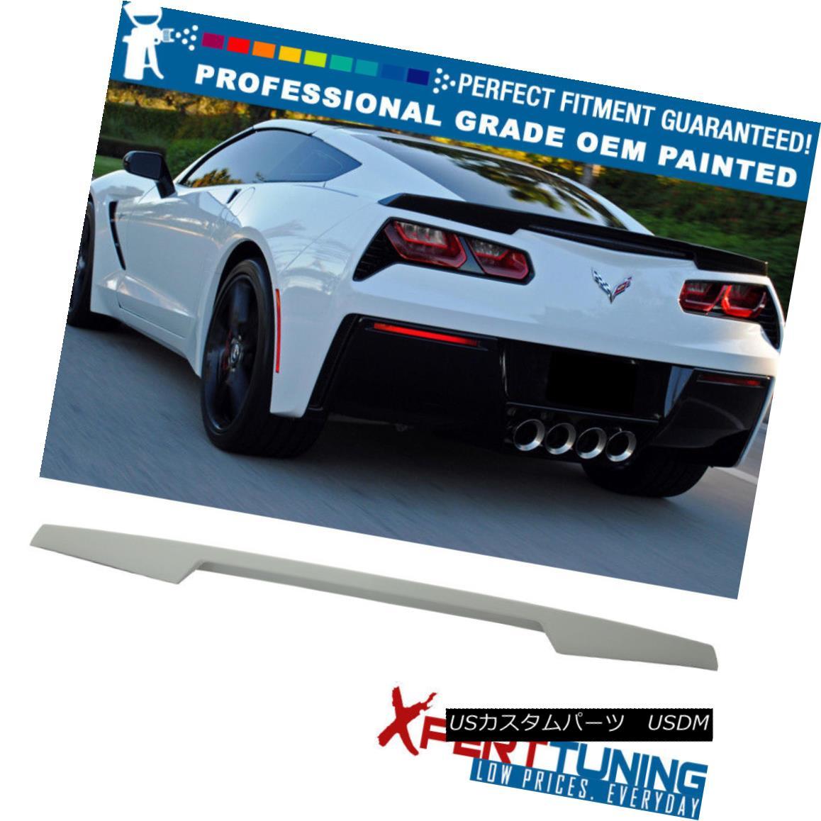 エアロパーツ 14-18 Chevy Corvette C7 Painted ABS Trunk Spoiler - OEM Painted Color 14-18シボレーコルベットC7塗装ABSトランクスポイラー - OEM塗装色