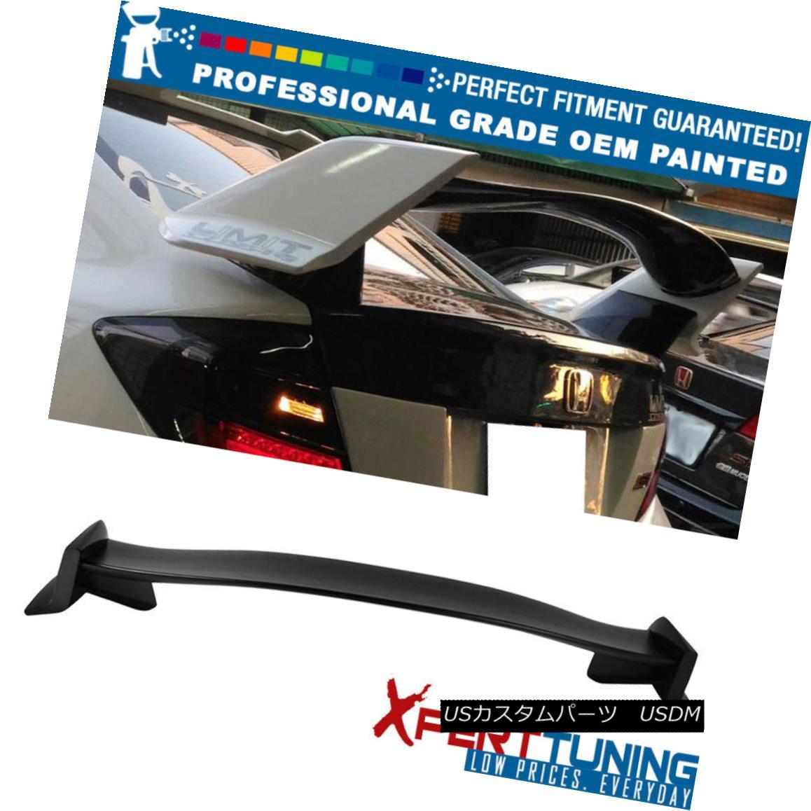 エアロパーツ 12-15 9th Gen FB Civic 4Dr Type R Painted ABS Trunk Spoiler - OEM Painted Color 12-15第9世代FB市民4DrタイプR塗装ABSトランク・スポイラー - OEM塗装色