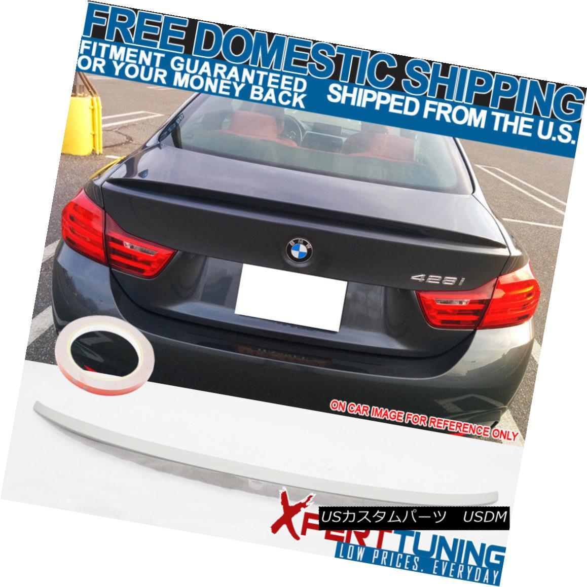エアロパーツ 14-17 BMW 4 Series F32 Trunk Spoiler Painted Alpine White III #300 - ABS 14-17 BMW 4シリーズF32トランク・スポイラー・アルパイン・ホワイトIII#300 - ABS