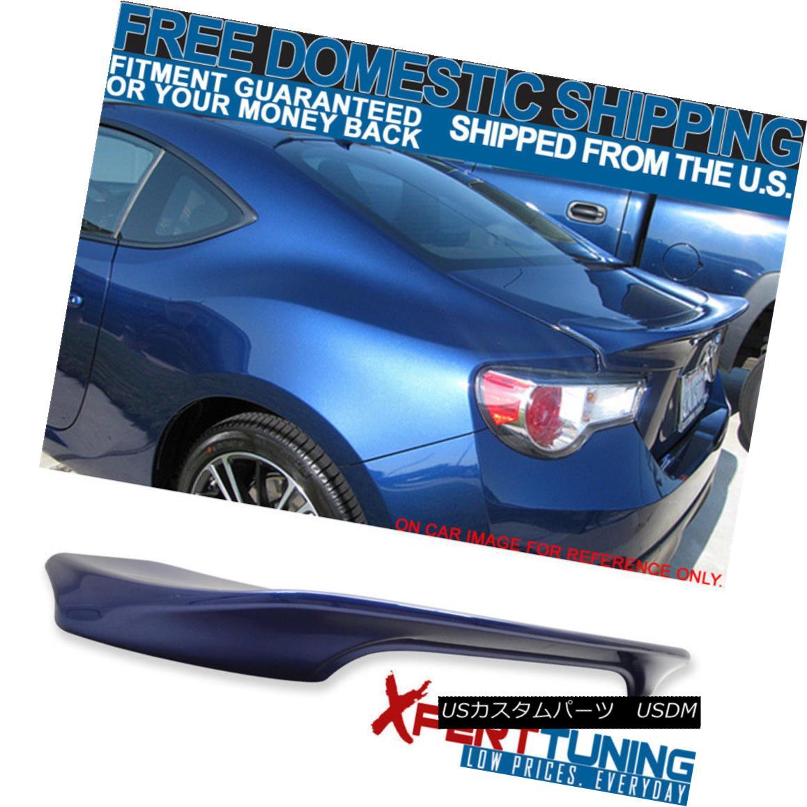 エアロパーツ Fits 13-15 FRS 13-14 BRZ TR Trunk Spoiler Painted Galaxy Blue Ultramarine # E8H フィット13-15 FRS 13-14 BRZ TRトランクスポイラーペイントギャラクシーブルーウルトラマリン#E8H