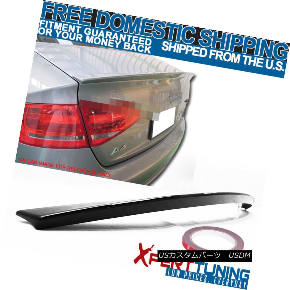エアロパーツ 2009-2012 AUDI A4 B8 4Dr A Style #LY9B OE Style Painted Trunk Spoiler 2009-2012 AUDI A4 B8 4Dr Aスタイル#LY9B OEスタイル塗装トランク・スポイラー