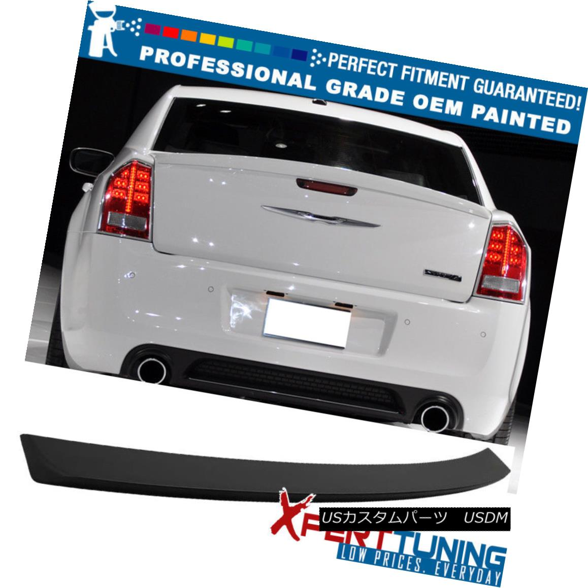 エアロパーツ Fit 11-17 Chrysler 300 300C 300S SRT SRT8 Trunk Spoiler Wing - OEM Painted Color 適合11-17クライスラー300 300C 300S SRT SRT8トランク・スポイラー・ウィング - OEM塗装色