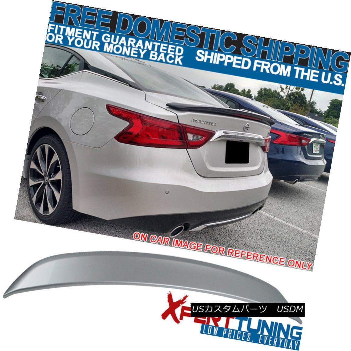エアロパーツ Fit 16-18 Maxima OE2 Trunk Spoiler Painted Brilliant Silver Metallic #K23 - ABS フィット16-18マキシマOE2トランクスポイラー塗装ブリリアントシルバーメタリック#K23 - ABS