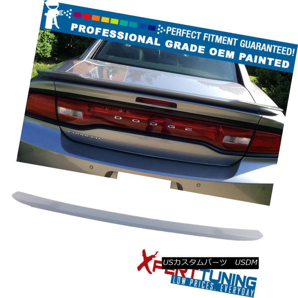 エアロパーツ Fits 15-18 Dodge Charger SRT8 Hellcat Painted Trunk Spoiler - OEM Painted Color 15-18ダッジチャージャーSRT8 Hellcatペイントトランクスポイラー - OEM塗装カラーに適合