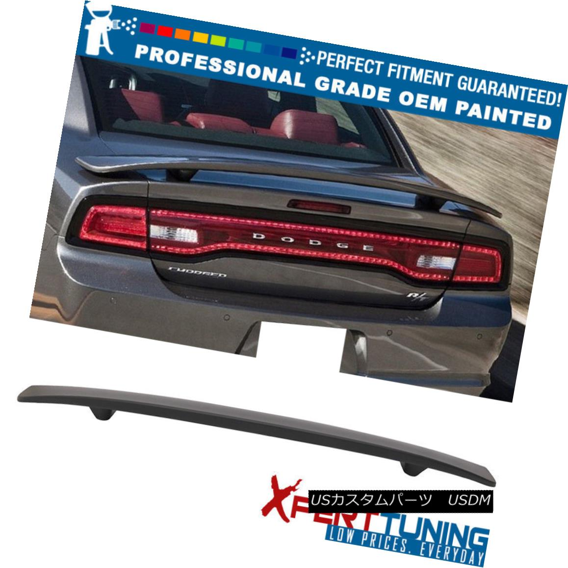 エアロパーツ Fits 11-18 Dodge Charger SRT Painted Trunk Spoiler - OEM Painted Color 11-18 Dodge Charger SRT塗装トランク・スポイラー - OEM塗装カラーに適合