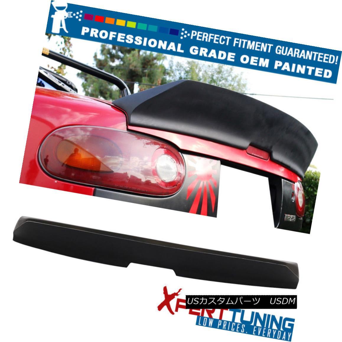 エアロパーツ 90-97 Mazda Miata MX5 IKON Style FRP Trunk Spoiler - OEM Painted Color 90-97マツダMiata MX5 IKONスタイルFRPトランク・スポイラー - OEM塗装カラー