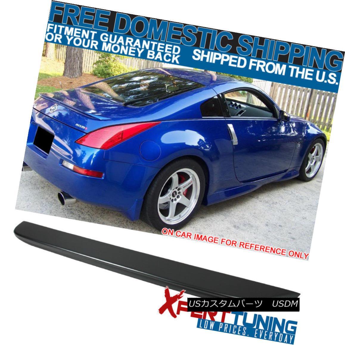 エアロパーツ Fits 03-08 350Z OE Style Trunk Spoiler Painted #WV2 Diamond Graphite Metallic フィット03-08 350Z OEスタイルトランクスポイラー#WV2ダイヤモンドグラファイトメタリック塗装