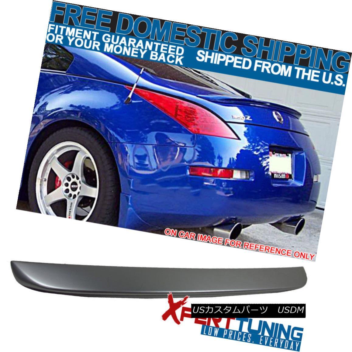 エアロパーツ Fits 03-08 Nissan 350Z Z33 ABS Trunk Spoiler Painted #KY0 Chrome Silver Metallic フィット03-08日産350Z Z33 ABSトランクスポイラー塗装#KY0クロムシルバーメタリック