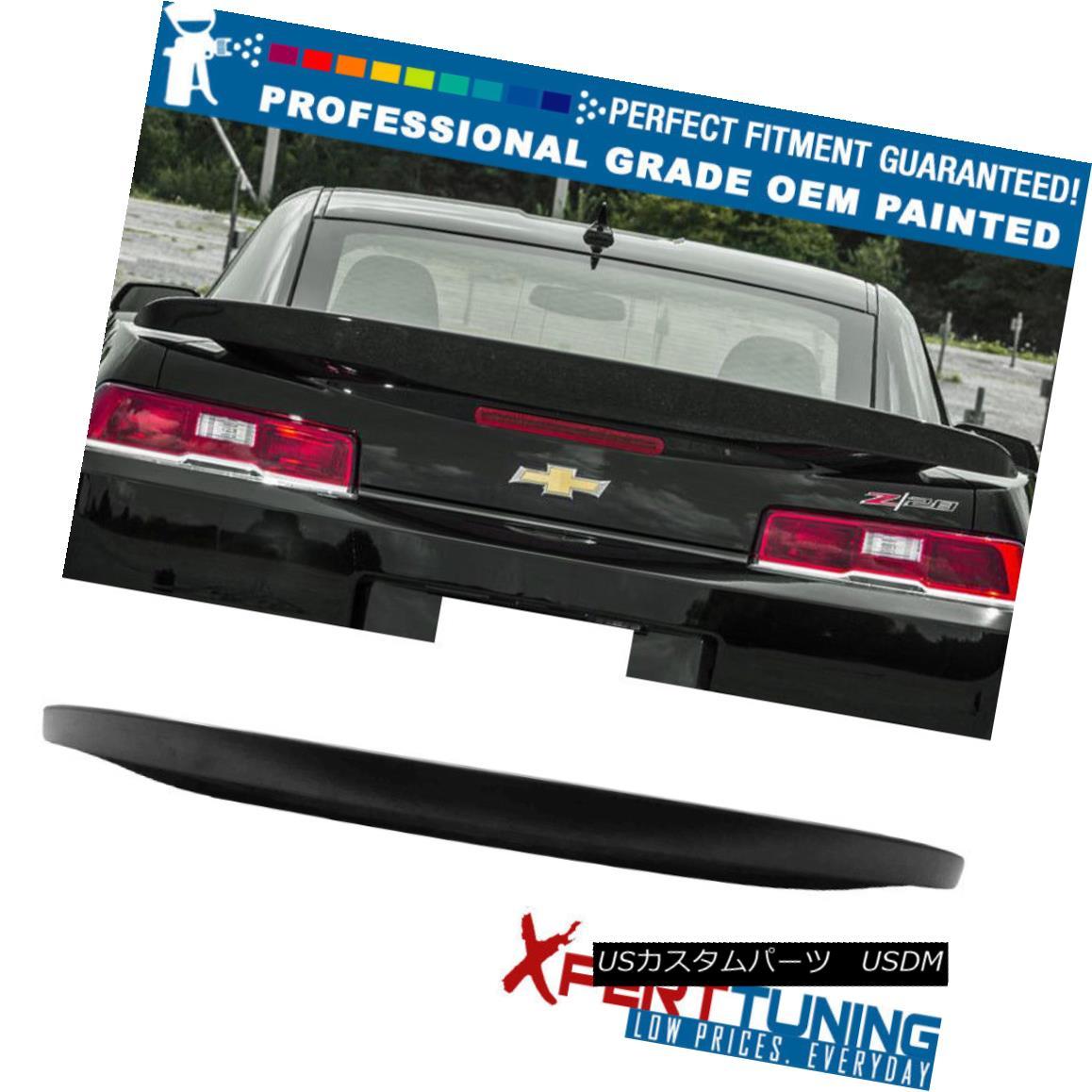 エアロパーツ 14 15 Chevy Camaro Factory Z28 Style Rear Wing Trunk Spoiler Painted OEM Color 14 15シボレーカマロ工場Z28スタイル後部翼トランクスポイラー塗装OEMカラー