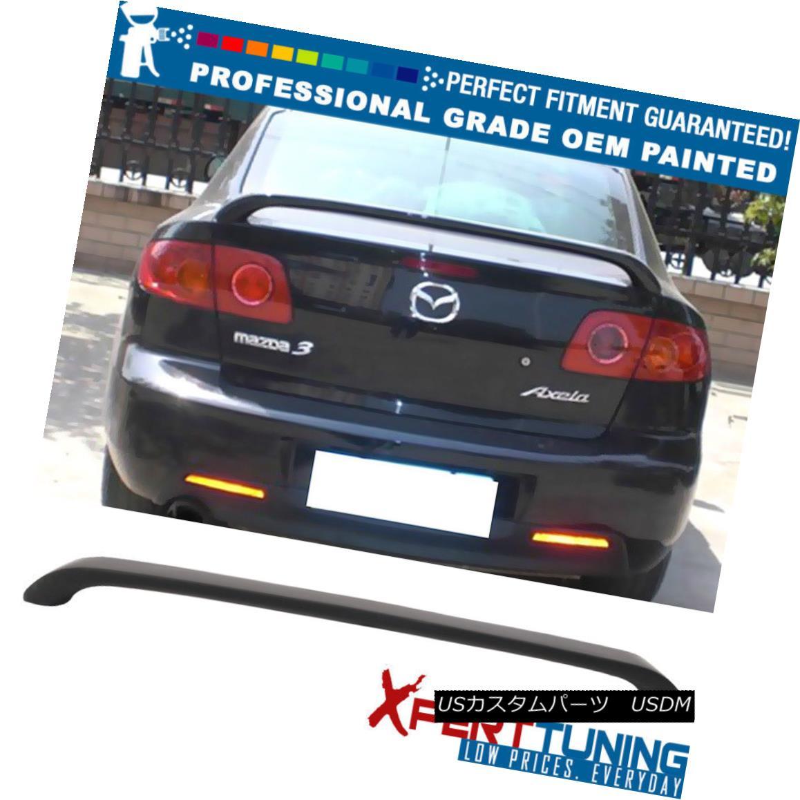 エアロパーツ Fit 04-09 Mazda 3 Mazda3 Sedan OE Factory Trunk Spoiler Wing - OEM Painted Color フィット04-09マツダ3 Mazda3セダンOE工場トランクスポイラーウィング - OEM塗装カラー