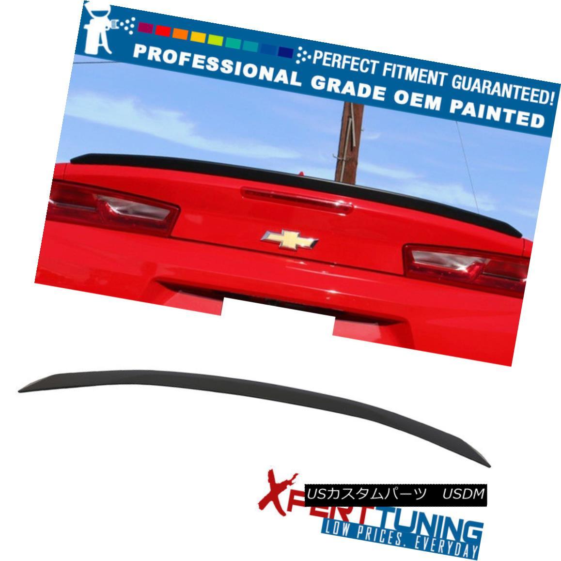 エアロパーツ 16-18 Chevy Camaro OE Flush Mount RS LT V6 Trunk Spoiler - OEM Painted Color 16-18シボレーカマロOEフラッシュマウントRS LT V6トランク・スポイラー - OEM塗装色