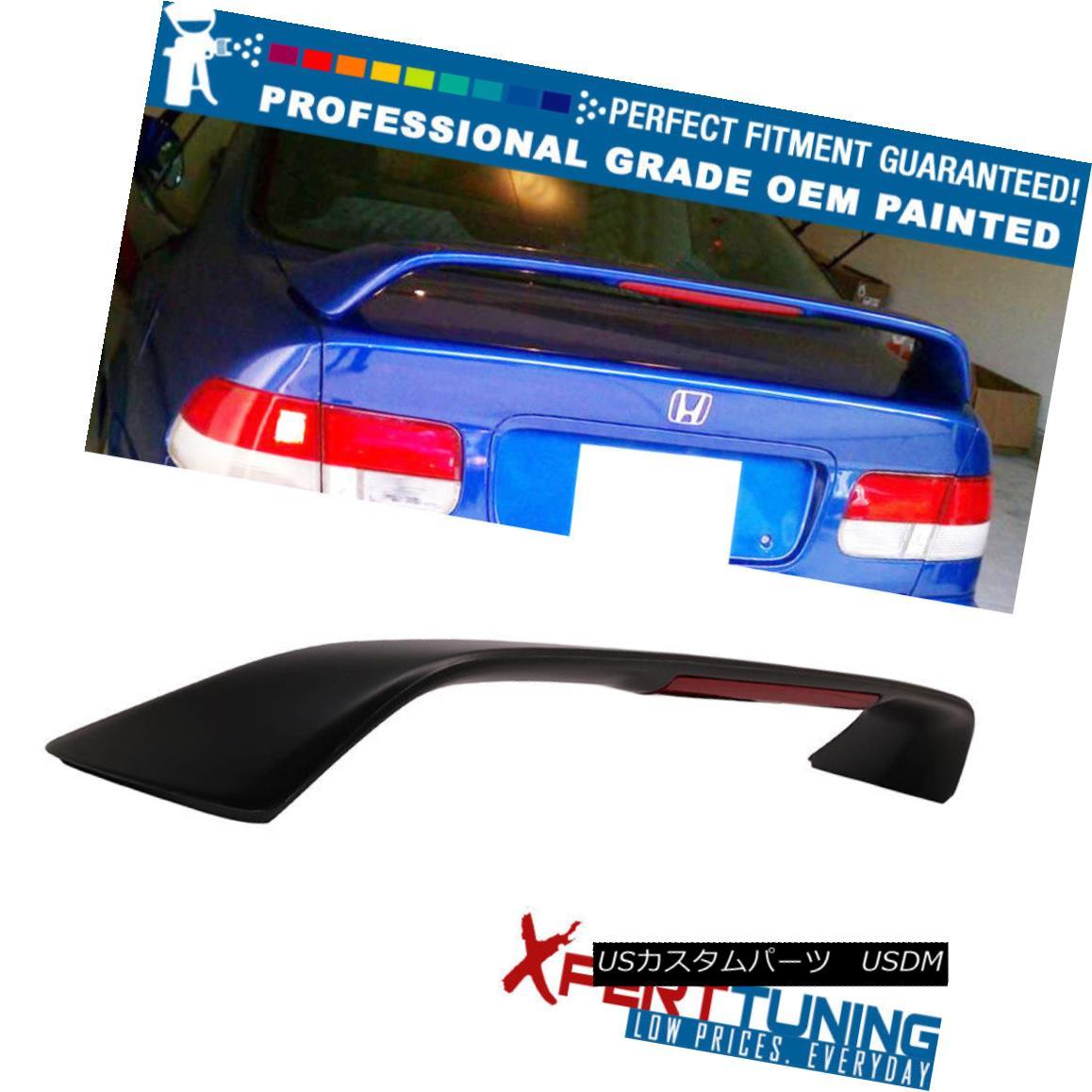 エアロパーツ Fits 96-00 Honda Civic 2DR Coupe 3rd Brake LED Trunk Spoiler - OEM Painted Color 適合96-00ホンダシビック2DRクーペ第3ブレーキLEDトランク・スポイラー - OEM塗装色