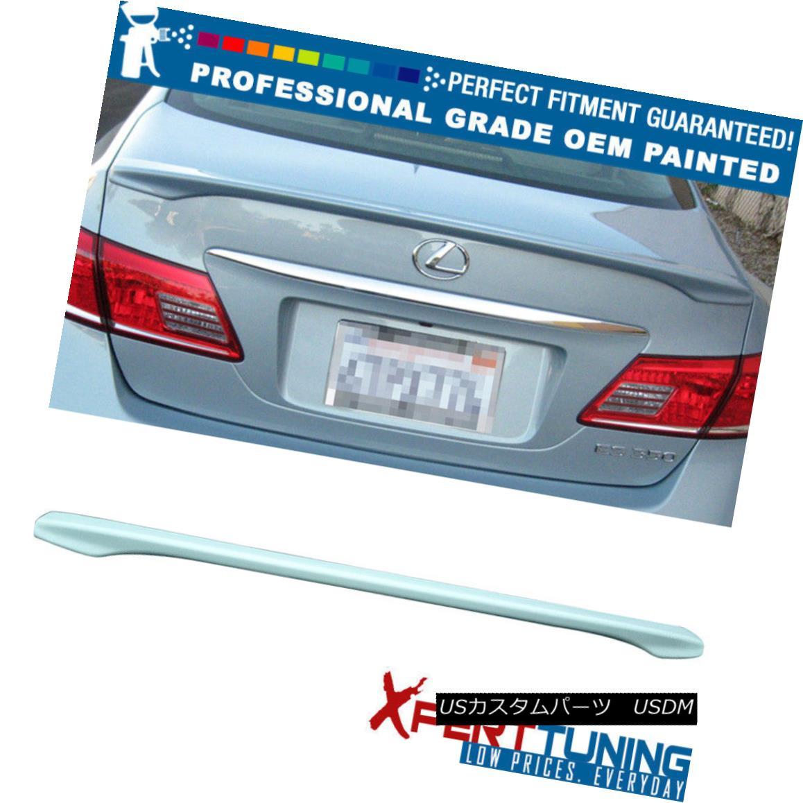 エアロパーツ Fit 07-12 Lexus ES350 OE Flush Mount Painted Trunk Spoiler OEM Painted Color フィット07-12レクサスES350 OEフラッシュマウント塗装トランクスポイラーOEM塗装色