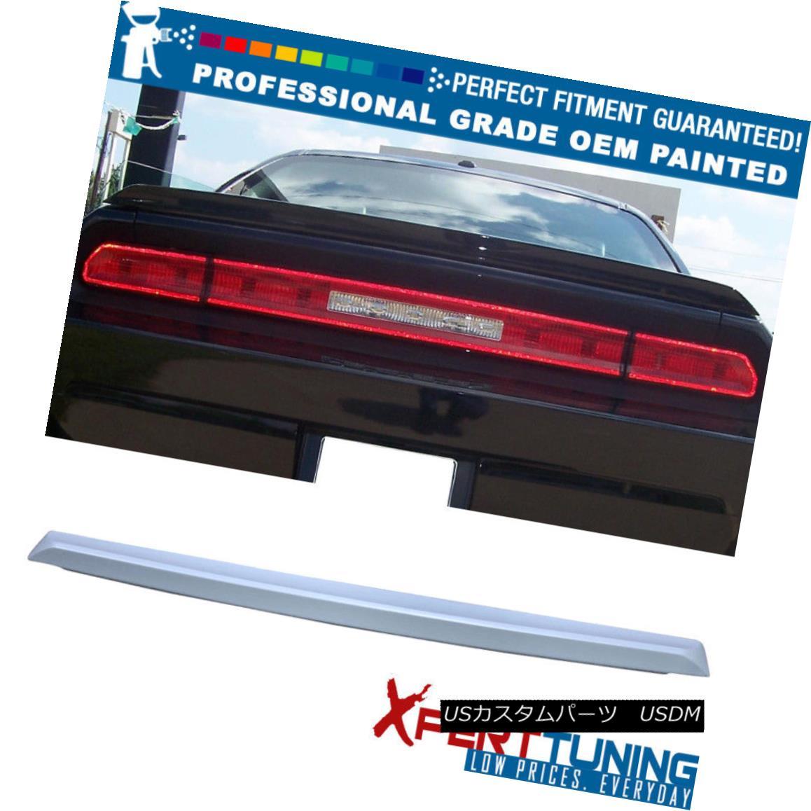 エアロパーツ Fit 08-17 Challenger SRT Style Painted ABS Trunk Spoiler - OEM Painted Color フィット08-17チャレンジャーSRTスタイル塗装ABSトランクスポイラー - OEM塗装色