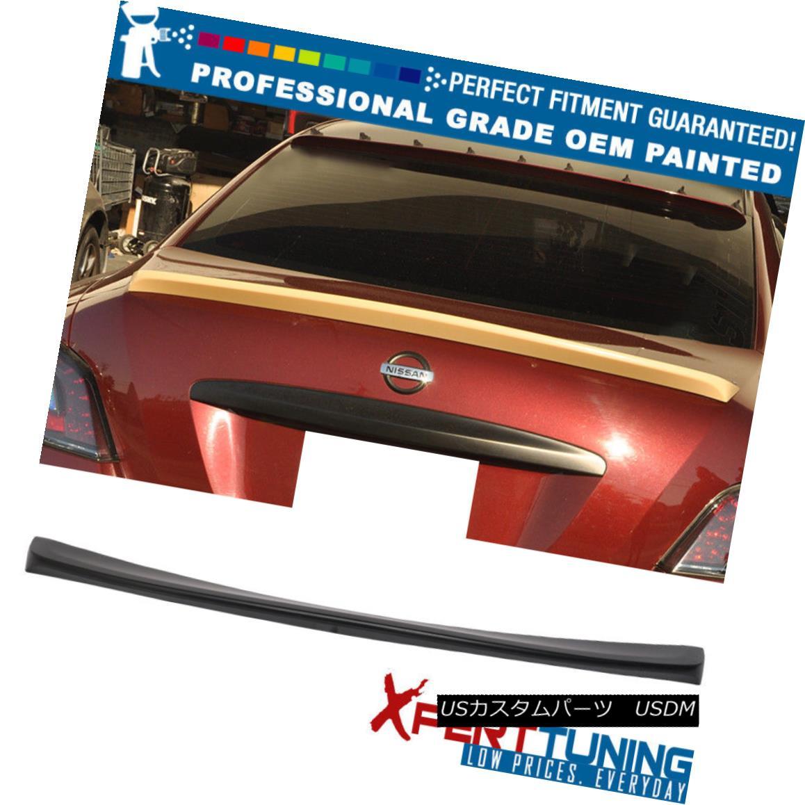 エアロパーツ Fit 09-15 Nissan Maxima ST Style Painted ABS Trunk Spoiler - OEM Painted Color フィット9月15日日産マキシマSTスタイル塗装ABSトランクスポイラー - OEM塗装カラー